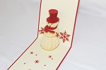 3D Snowman, Greeting Card, GAS_0255