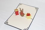 3D Reindeer and Presents, Greeting Card, GAS_0257