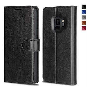 Leather Wallet Magnetic Flip Case with Strap Samsung Galaxy Note 10 or Note 10 Plus
