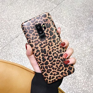 Leopard Print Pattern Wildcat Series Soft Rubber Case Cover Samsung Galaxy S9 or S9 Plus