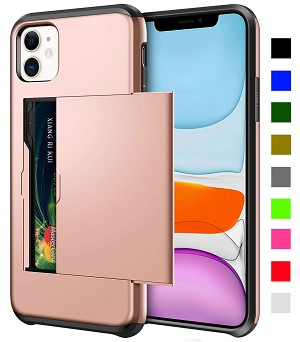 Card Slot Tough Armor Wallet Design Case Apple iPhone 11, 11 Pro, or 11 Pro Max