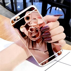 Bear Ring Loop Stand Soft Rubber Case Cover Apple iPhone 7 or 7 Plus