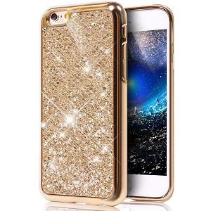 Glitter Bling Diamond Soft Rubber Case Cover Apple iPhone 7 or 7 Plus