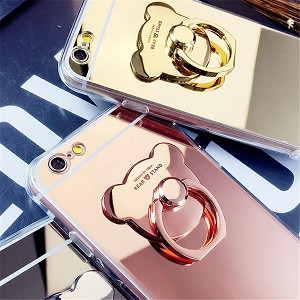 Bear Ring Loop Stand Soft Rubber Case Cover Apple iPhone 8 or 8 Plus