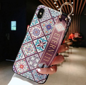 Leather Grip Stand Blossom Series Case Apple iPhone 8 or 8 Plus