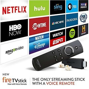 Amazon Fire TV Stick with Alexa Voice Remote Jailbroken Unlocked Fully Loaded