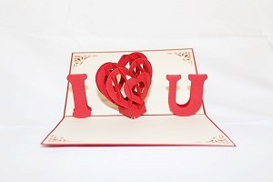 3D I Love You Letters, Greeting Card, GAS_0017
