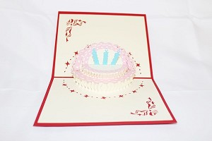3D Birthday Cake, Greeting Card, GAS_0026