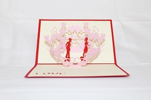 3D Love Couple Kissing, Greeting Card, GAS_0040