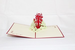 3D Love Heart Tree, Greeting Card, GAS_0043