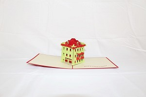 3D Square House, Greeting Card, GAS_0047