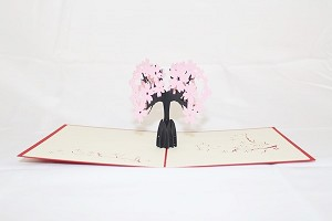 3D Pink Tree, Greeting Card, GAS_0050