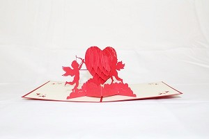 3D Love Cupids, Greeting Card, GAS_0054