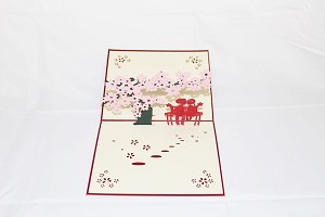 3D Love Couple Under Tree, Greeting Card, GAS_0057