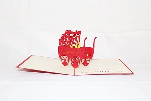 3D Carriage with Baby, Greeting Card, GAS_0075