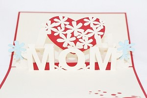 3D I Love Mom, Greeting Card, GAS_0092