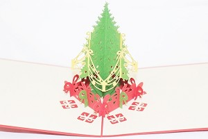 3D Merry Christmas Tree, Greeting Card, GAS_0105