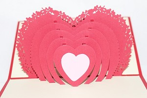 3D Heart, Greeting Card, GAS_0115