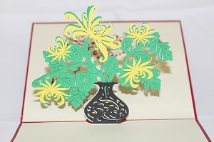 3D Pot of Flower, Greeting Card, GAS_0122