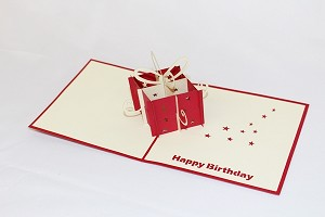 3D Birthday Gift Box, Greeting Card, GAS_0150
