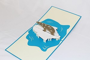 3D Polar Bear, Greeting Card, GAS_0158