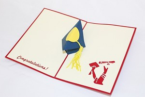 3D Graduation Hat, Greeting Card, GAS_0165