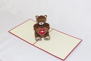 3D I Love You Bear, Greeting Card, GAS_0168