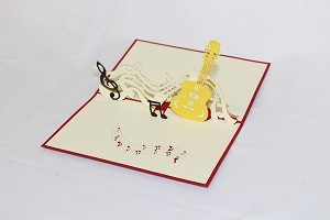 3D Music Instruments, Greeting Card, GAS_0173