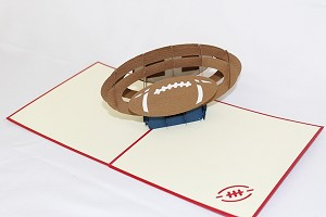 3D Football, Greeting Card, GAS_0179