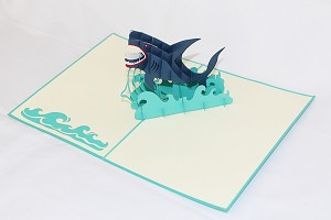 3D Shark, Greeting Card, GAS_0187