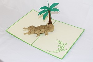 3D Alligator, Greeting Card, GAS_0188