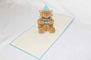 3D Happy Birthday Bear, Greeting Card, GAS_0192