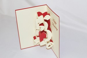 3D Birthday Bear, Greeting Card, GAS_0202