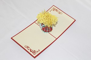 3D Sunflower, Greeting Card, GAS_0218