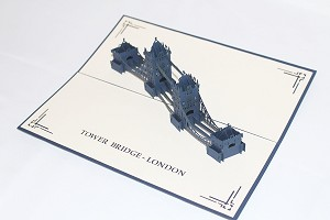 3D London Tower Bridge, Greeting Card, GAS_0228