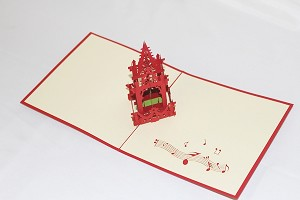 3D Music Tower, Greeting Card, GAS_0240