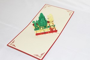3D Christmas Tree with Children, Greeting Card, GAS_0246