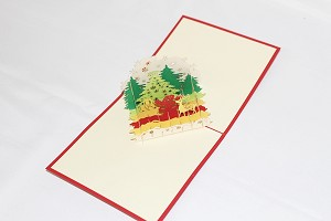 3D Reindeer, Greeting Card, GAS_0249