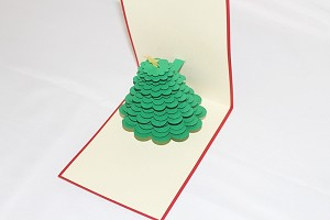 3D Christmas Tree, Greeting Card, GAS_0251