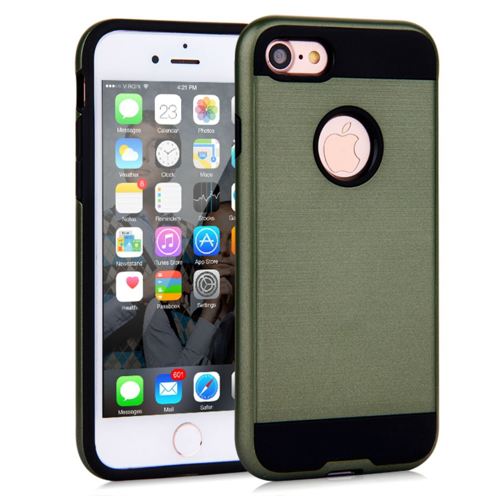 Brush Hybrid Tough Armor Heavy Duty Case Apple iPhone 6s or 6s Plus