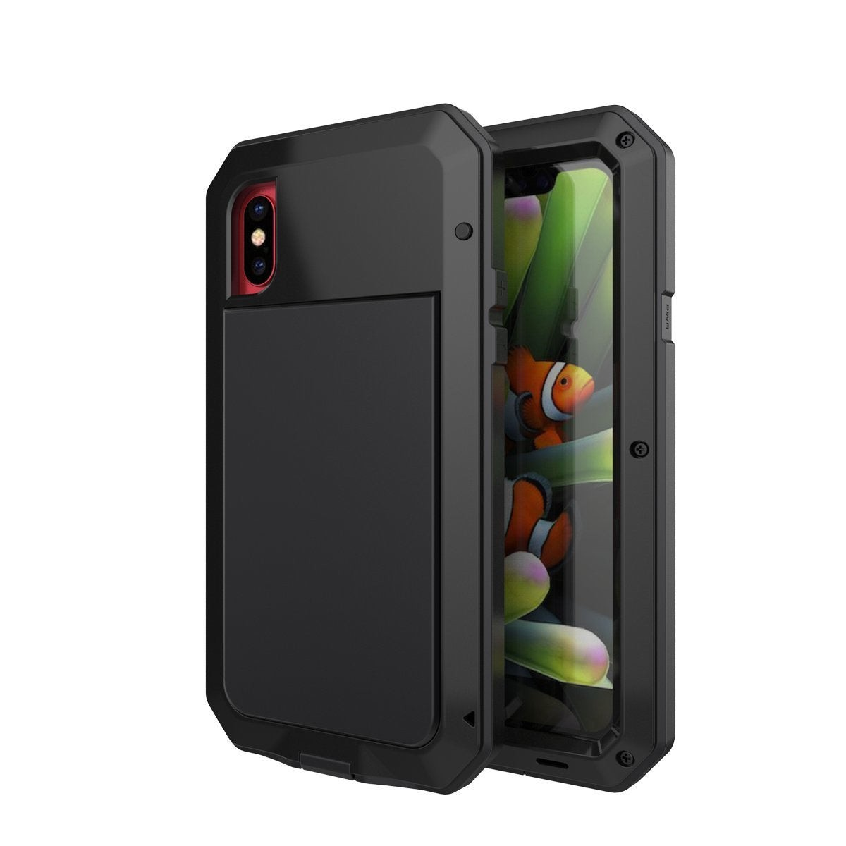Gorilla Glass Aluminum Alloy Heavy Duty Shockproof Case Apple iPhone X, XS, XR, or XS Max