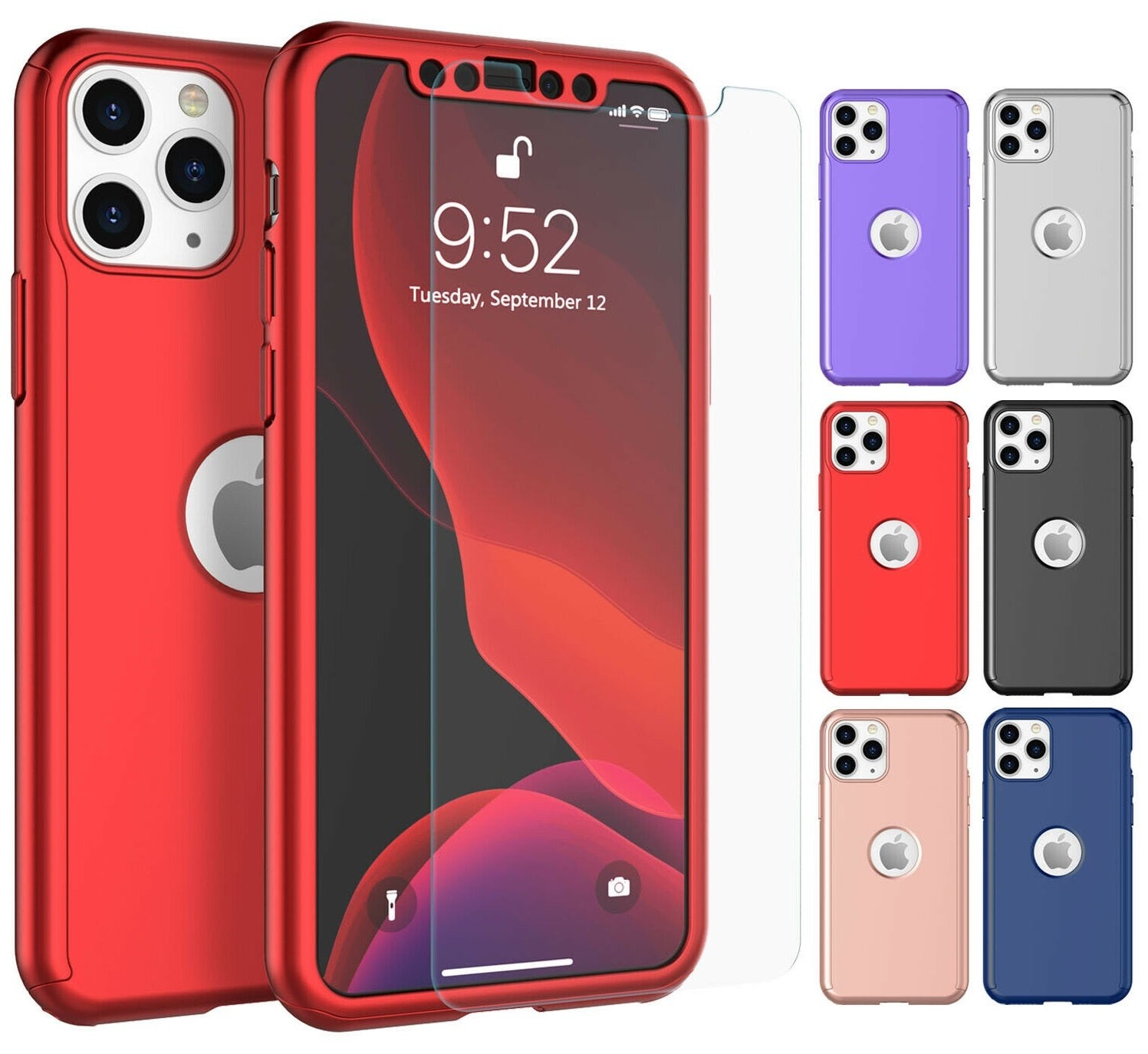 360° Plating Phone Case Slim Mirror Full Coverage Apple iPhone 11, 11 Pro, or 11 Pro Max